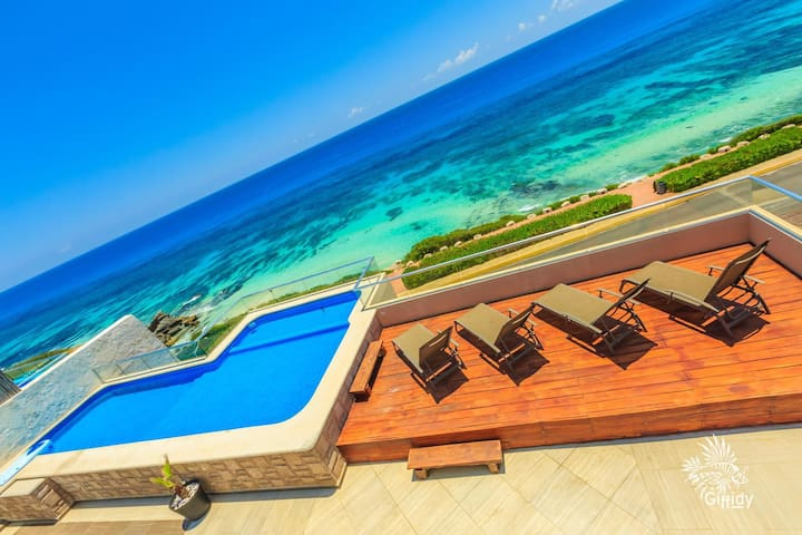 Spectacular OCEAN-VIEW Penthouse Private Pool 4BD Isla Mujeres33 OV