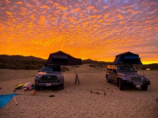 Get Wild 4x4 Van W/Roof Tent Geared to Explore Baja